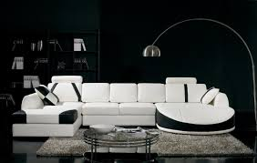 Modern Genuine Leather Sofa Modern Sectional Couch Modern Black And White Sectional L Shaped