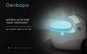 Motion Sensor Bathroom Light Colorful Motion Sensor Toilet Nightlight Oenbopo Home Toilet