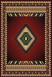 Southwestern Throw Rugs Burgundy Arrow Southwestern Area Rug 5x7 Southwestern Area