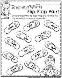 printable rhyming words back to school kindergarten worksheets kindergarten worksheets