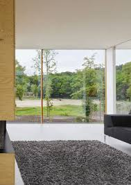 Glass Wall House Bedroom Glass Wall Bright Natural Light Living Room Design