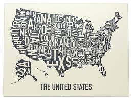 map of us states poster united states map 24 x 18 waves of grey poster