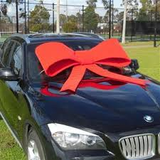 car bow ribbon door bows bows australian printed ribbon
