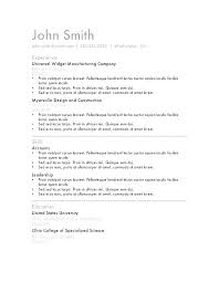 simple curriculum vitae format doc simple resume format in word cliffordsphotography com