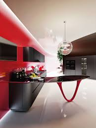 modern minimalist kitchen design floating white countertop and
