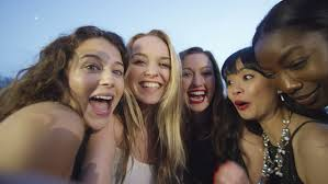 Take A Selfie 4k Attractive Fun Loving Female Friends Pose To Take A Selfie At