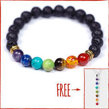 making bead necklace images 7 bead chakra bracelet with real stones and lava free chakra jpg