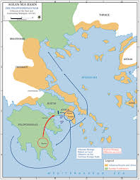 Map Of The World Bc by Map Of The Peloponnesian War Alliances 431 Bc
