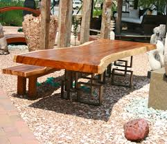 Slab Dining Room Table Dining Room Incredible Outdoor Dining Room Decoration Using