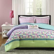 Blue Bed Sets For Girls by Teen Kids Full Queen Comforter Bedding Set Owls Polka Dot