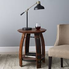 Refurbished End Tables by Wine Barrel End Table Wine Enthusiast