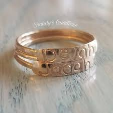 customized rings with names 3mm gold stackable name rings s rings layered