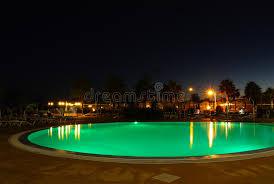Pool At Night Illuminated Green Pool At Night Royalty Free Stock Image Image