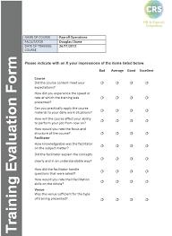 doc 600630 training evaluation forms templates u2013 training