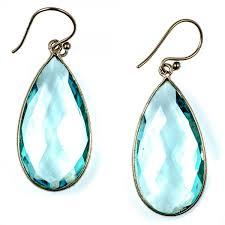 silver teardrop earrings sterling silver aqua quartz teardrop earrings by char maassen