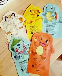 pokemon tony moly facemask u2013 hellohappybunny