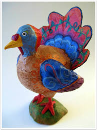 how to make a turkey for thanksgiving paper mache turkey thanksgiving decoration centerpiece made