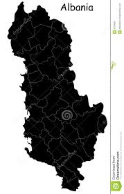 Map Of Albania Black Map Of Albania Stock Photos Image 6753563