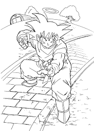 dragon ball z coloring pages for kids printable free coloring