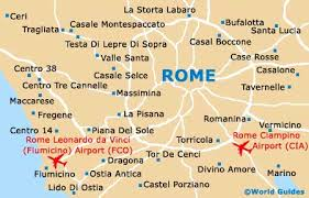 rome on a map rome maps and orientation rome lazio italy
