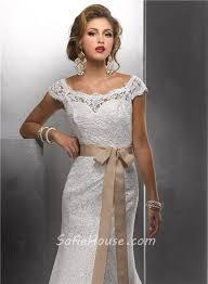 trumpet mermaid bateau cap sleeves vintage lace wedding dress