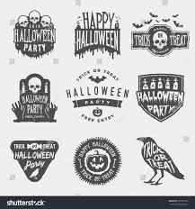 vector set happy halloween vintage badges stock vector 323872550