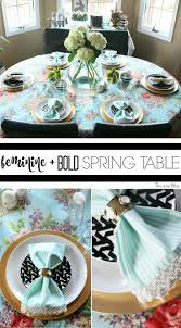 a spring tablescape feminine bold this is our bliss