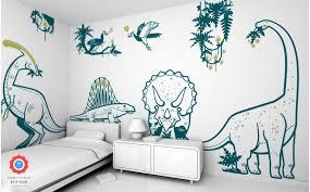 stickers garcon chambre stickers enfant dinosaures pour décoration murale de chambre garçon