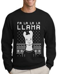 fa la la llama ugly christmas sweater xmas funny sweatshirt gift