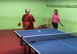 Table Tennis Watch 69 Year Old Saraswathi Rao Shows Off Her Table Tennis Skills