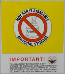 what should be stored in a flammable storage cabinet refrigerators and freezers