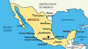 map of mexico and california mexico honeymoon regions