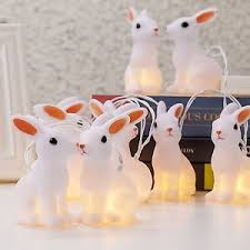 easter led string lights warm string lights rabbit