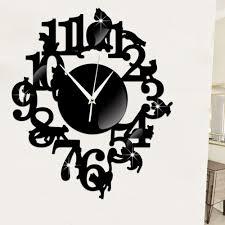 creative black cat wall clock gear eden creative black cat wall clock