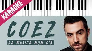 testo come musica coez la musica non c 礙 piano karaoke con testo cover piano