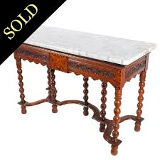 antique console table italian marble top console table