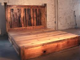 Diy King Size Platform Bed With Headboard by Headboard Light Pine King Headboard Diy King Size Bed Free Plans