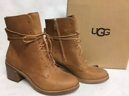 s ugg ankle boots ugg australia oriana honey lace up leather ankle boots 1018646