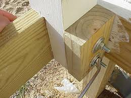 Deck Handrail How To Install Newel Posts For A Porch Or Deck Handrail