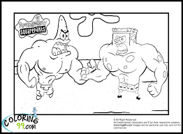 printable coloring pages sponge bob coloring page free
