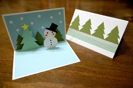 paper and plates snowman pop up card