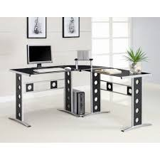 Office Table With Glass Top Very Attractive L Shaped Desks Babytimeexpo Furniture