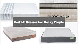 4 best mattresses for heavy people