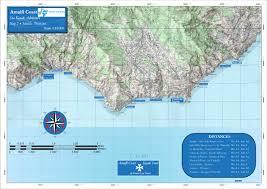 Map Of Amalfi Coast Kayaking Map Amalfi Coast 2 Italy Kayak Tours