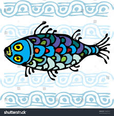 colorful fish ornament stock vector 72406927