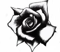 easy black and white rose tattoo designs female tattoo designs