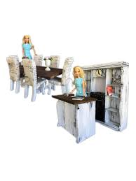 minimolly dollhouse furniture barbie size bundle 6 sets