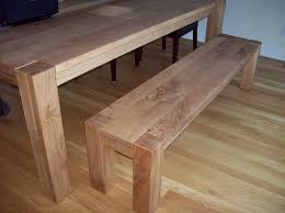 white oak dining table and bench by j lumberjocks com