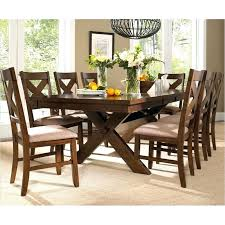 Counter Height Extendable Dining Table 8 Seater Oval Oak Dining Table Extendable Chairs And 9pc