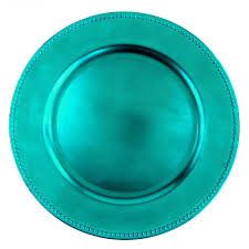 turquoise blue charger plates bulk 24 plates 402088